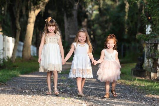Taylor Moyles, 6, Abigail Moyles, 4, Addison Moyles, 4