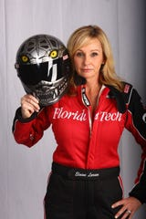 Elaine Larsen is the driver of the Florida Institute of Technology jet dragster. She was featured in an insurance commercial during Game 6 of the World Series.