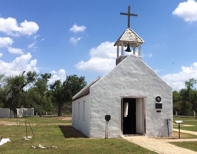 La Lomita Chapel, originally built in 1865, is the namesake of Mission, Texas. The Catholic Diocese of Brownsville is fighting a federal proposal to construct a border wall at the site.