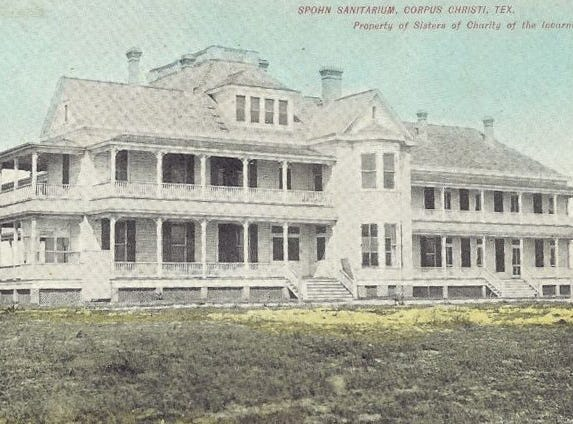 This early 20th century postcard shows Spohn Sanitarium on North Beach. The building was destroyed in the 1919 hurricane.