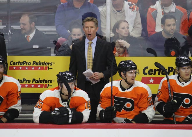 Coach Dave Hakstol's Flyers were supposed to take a big step forward this season. They haven't made many improvements in the first quarter of the season.