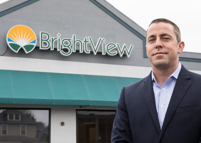 Brightview's president and co-founder Dr. Shawn Ryan stands outside one of their new practices located on E. Second Street in Downtown Chillicothe, Ohio. Brightview's goal is to help people overcome whatever drug addiction they may be suffering from through medical, psychological, and social services.