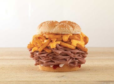 What happens when you mix curly fries and roast beef? Arby's says they have an answer