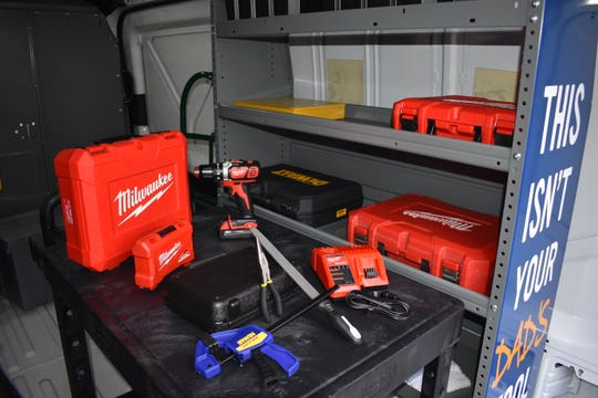 Gateway Community & Technical College's new mobile learning lab will bring hand tools and other basic manufacturing and construction tools skills lessons to high school students and Gateway's three campuses.
