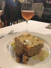 The Squash and Pumpkin Lasagna at The Winds Cafe, served with a cider from Normandy was the perfect thing to fill my empty stomach after a good hike.