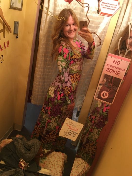 I found the perfect vintage maxi dress that just so happened to fit me perfectly at Heaven on Earth Emporium in Yellow Springs. And it was $10.