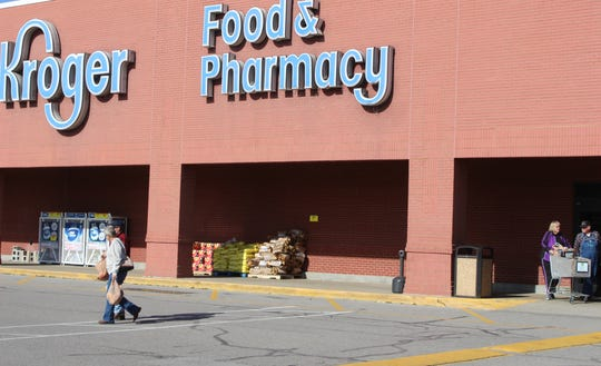 Shoppers enter and exit the Kroger off Wilma Rudolph Road in Clarksville, the closest grocery store to many people who live in the Rossview area off exit 8.