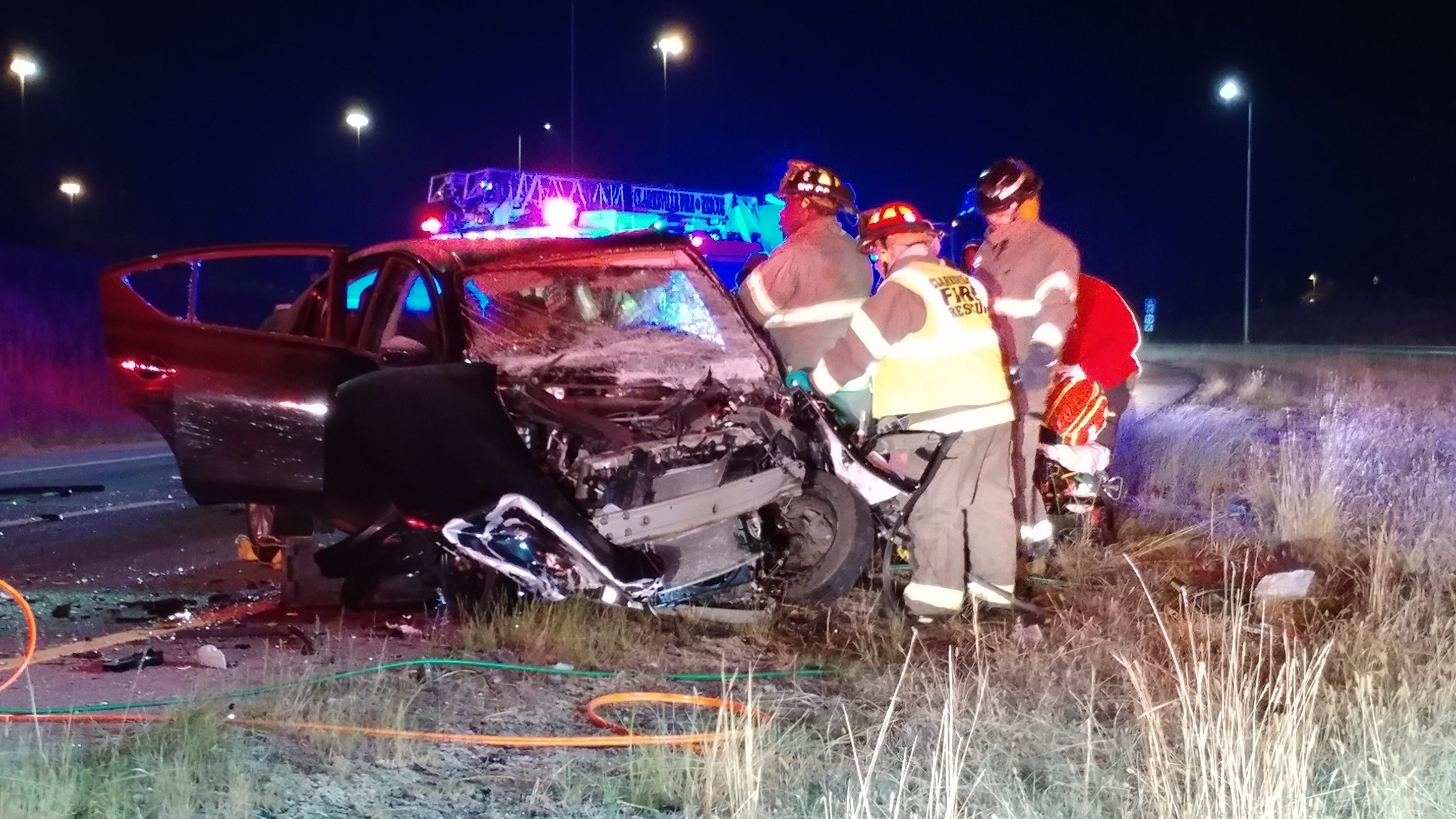 Two injured in head-on crash on 101st Parkway