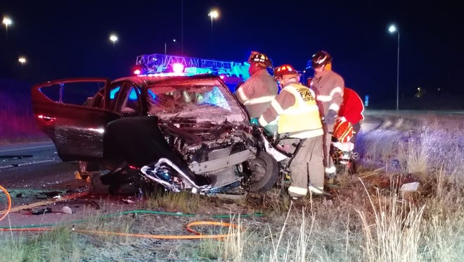 Two cars collided head-on early Friday morning, Nov. 16, 2018, on the 101st Airborne Division Parkway.