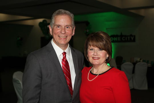 "On Election Day, Nov. 6, Joe Pitts, shown with wife, Cyndi, won the Clarksville mayor's office with a theme of unification under the term, ""One City."""