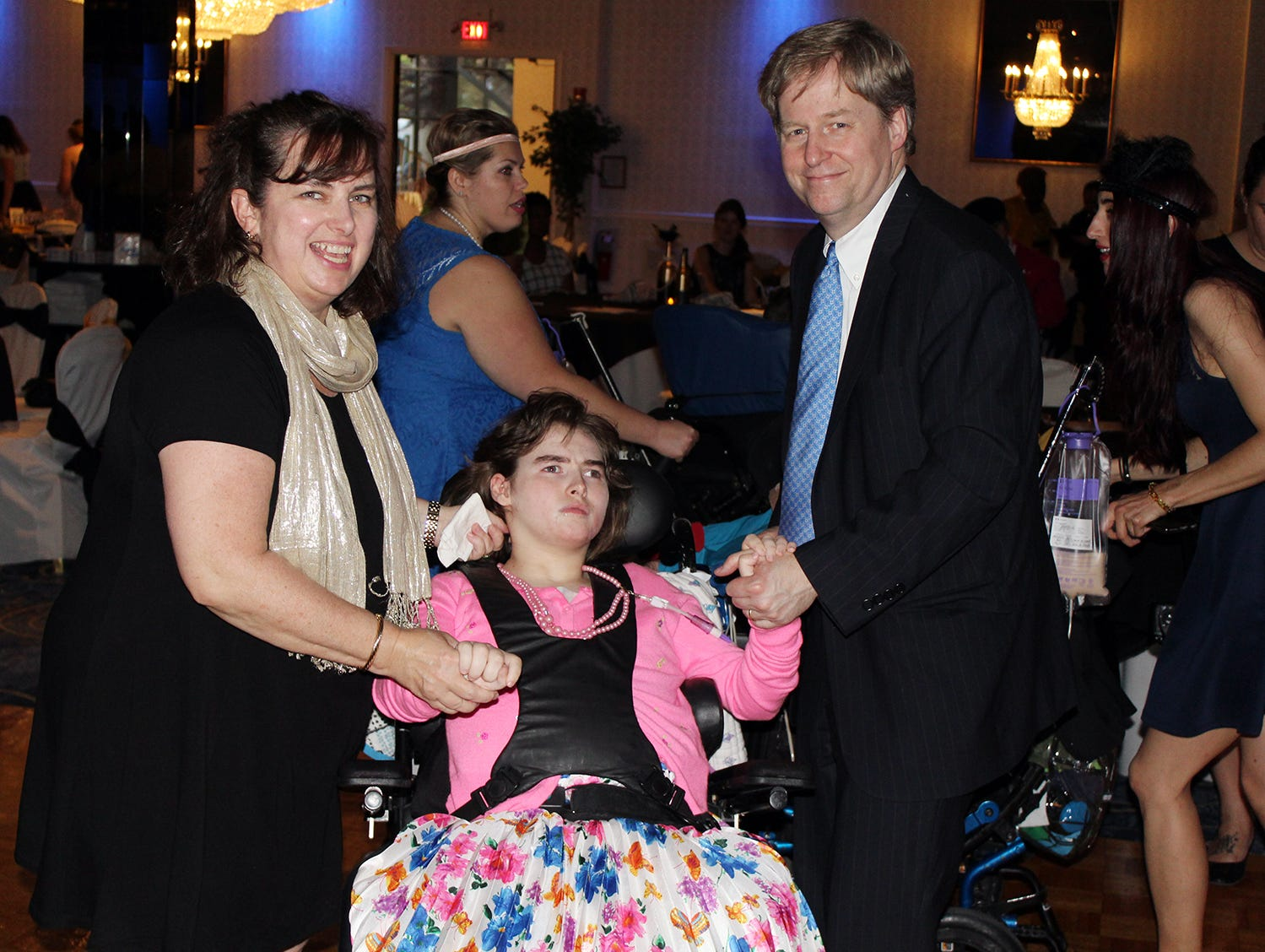 Colleen and David Blaxill of Skillman attend the Matheny Prom with their daughter, Meghan, a resident of Matheny.