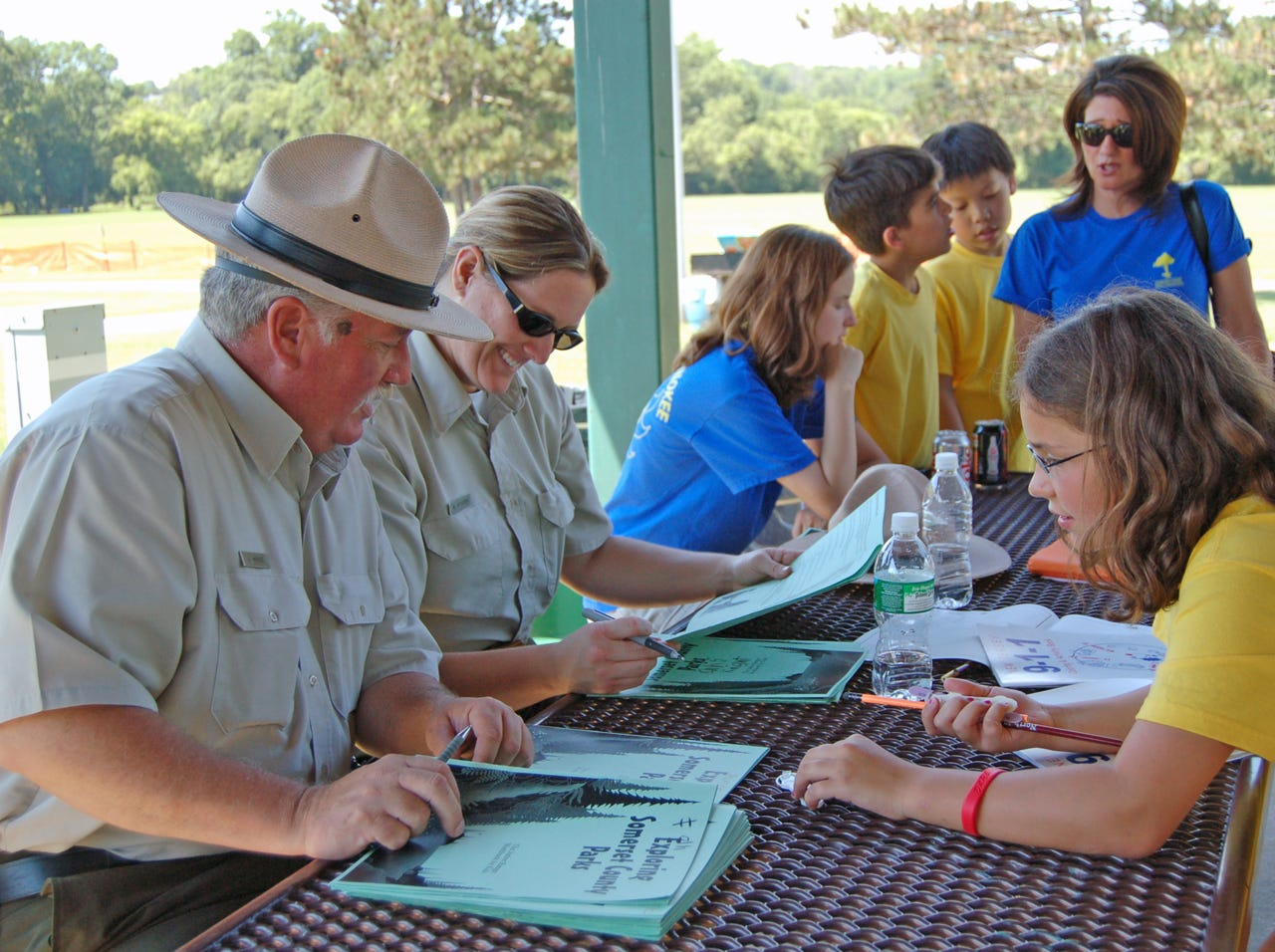 Junior Rangers work with Park Rangers, learning about the environment in the Somerset County parks.