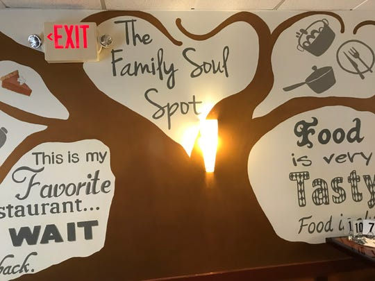 A mural decorates the wall of The Family Soul Spot soul food restaurant in Scotch Plains.