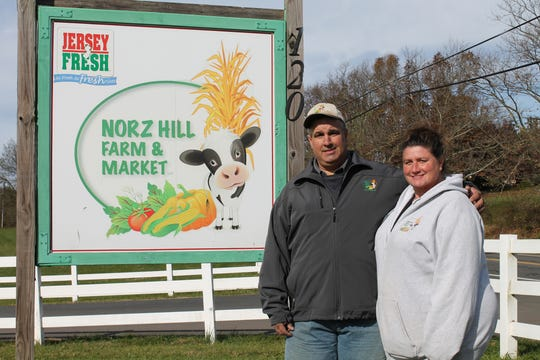 Rich and Debbie Norz, owners of Norz Hill Farm in Hillsborough, are Somerset County Vocational & Technical School District's 2018 Business Partners of the Year.