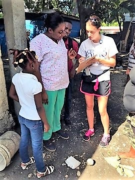 Megan Hendershot, assistant professor of nursing at Central Ohio Technical College, right, spent 10 days in Haiti working at a local hospital and teaching at a local university.