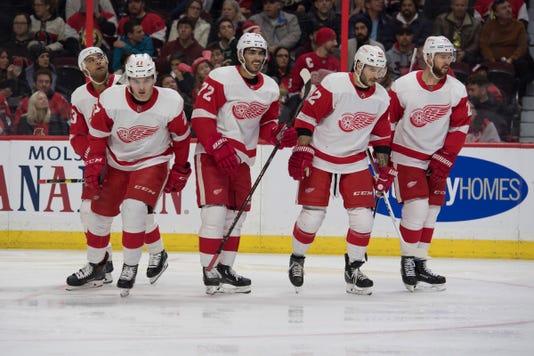 Nhl Detroit Red Wings At Ottawa Senators