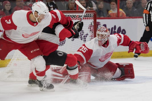 Nhl Detroit Red Wings At Ottawa Senators