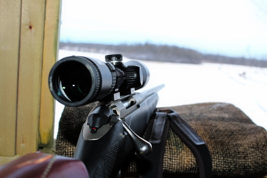 Watching And Waiting In A Blind While Hunting