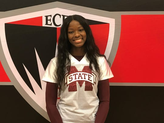 Detroit Edison's Rickea Jackson signed with Mississippi State on Friday, choosing the Bulldogs over South Carolina.