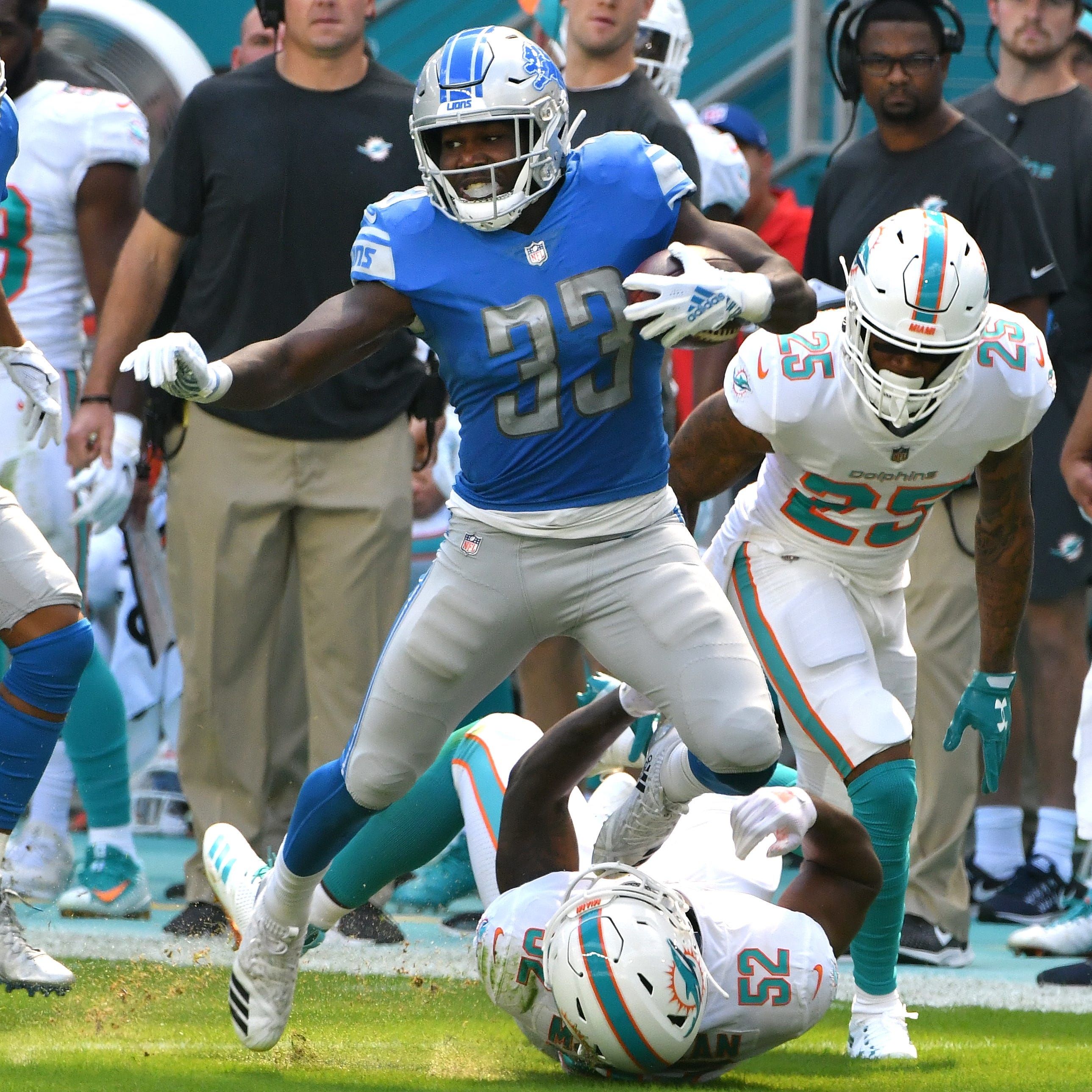 Kerryon Johnson pursues McCaffrey-like impact in Lions' offense