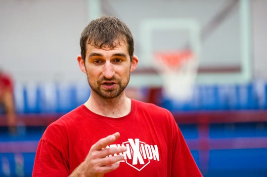 File photo from August 2014. Luke Zeller hosted a three-day basketball and character camp at the downtown Evansville YMCA.