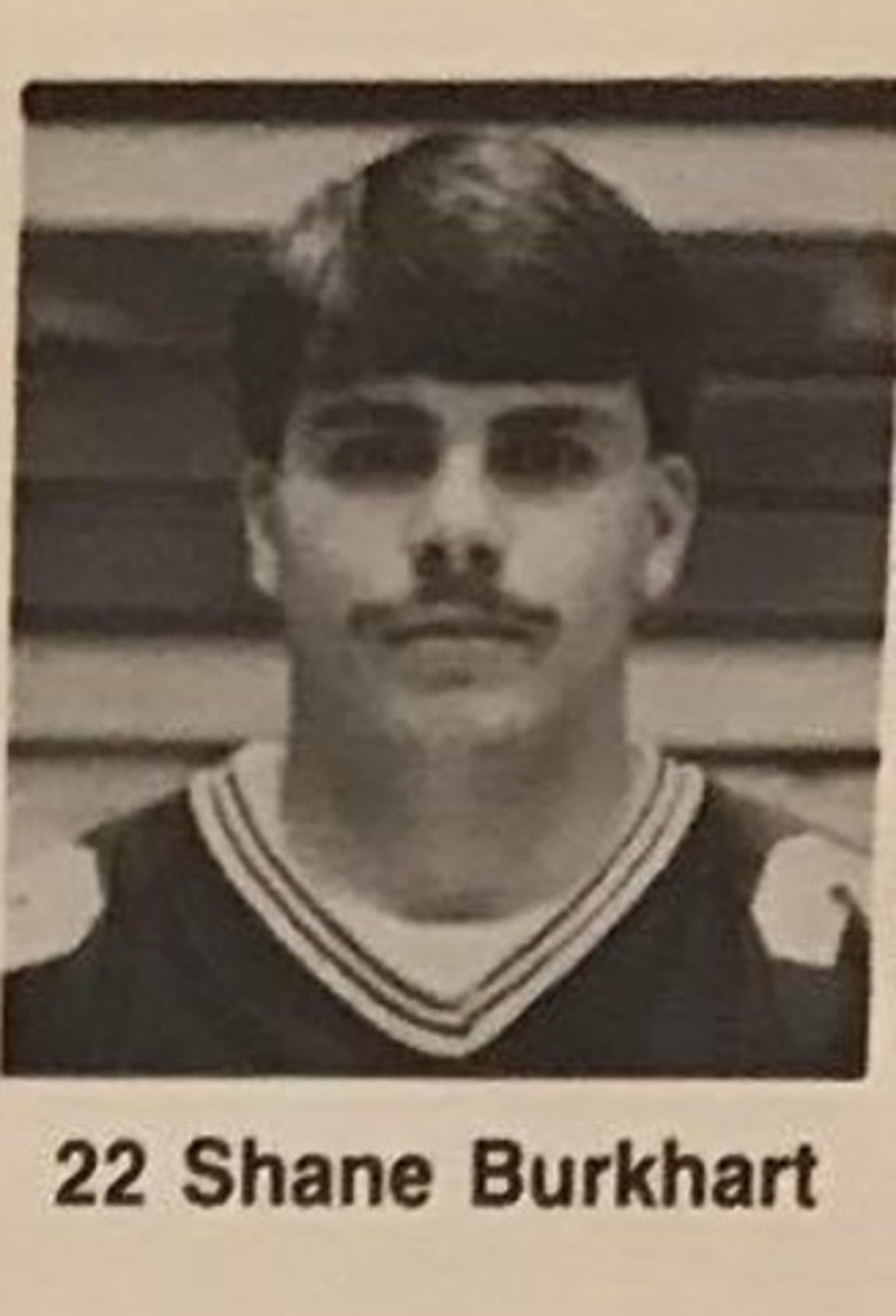 Shane Burkhart during his football-playing days at Marion High School.