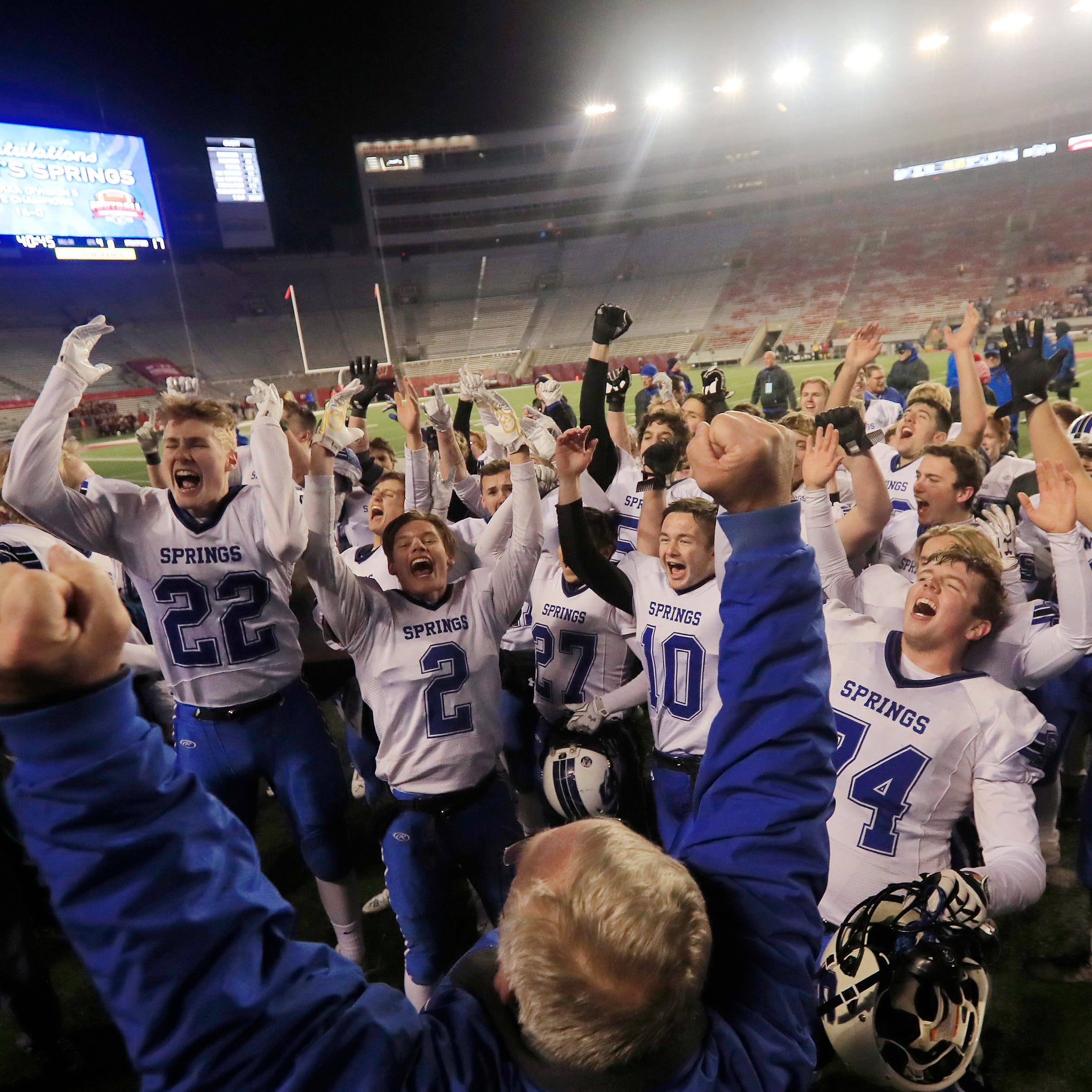 WIAA state football: St. Mary's Springs rallies to win record eighth title