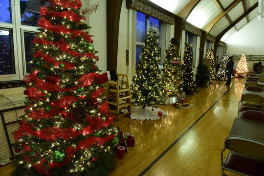 Christmas Tree Lane, at St. Paul Lutheran Church in Clyde, featured 15 trees decorated for the holiday and displayed during Winesburg Christmas Weekend. Eight trees were decorated by the community and seven were decorated by financial institutions.