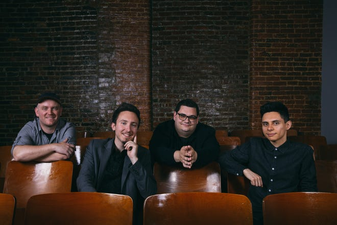 Dove Award-winning Christian band Sidewalk Prophets  will perform in Toledo Dec. 14 as part of their Great Big Family Christmas Tour. Lead singer Dave Frey, third from left, said VIP ticket holders will have the chance to go caroling with the band after the show.