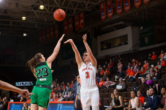 BGSU's Andrea Cecil had a double-double against Marshall.