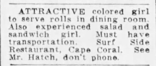 An eye-opening help wanted ad in The News-Press in 1959.