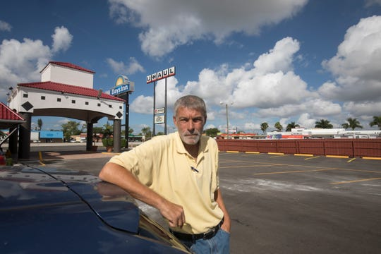 """Mike Daly steels himself to return to the streets of Fort Myers when his paid-up motel room runs out in a few hours. Daly, who's been homeless on and off since 2005, is a recovering male breast cancer patient with chronic obstructive pulmonary disease and a bipolar disorder, he said. """"Try doing it for a week,"""" he advised when told about the Homeless Challenge, a Lee Homeless Coalition event where participants spend a day 'walking in their shoes' to better understand homelessness."""
