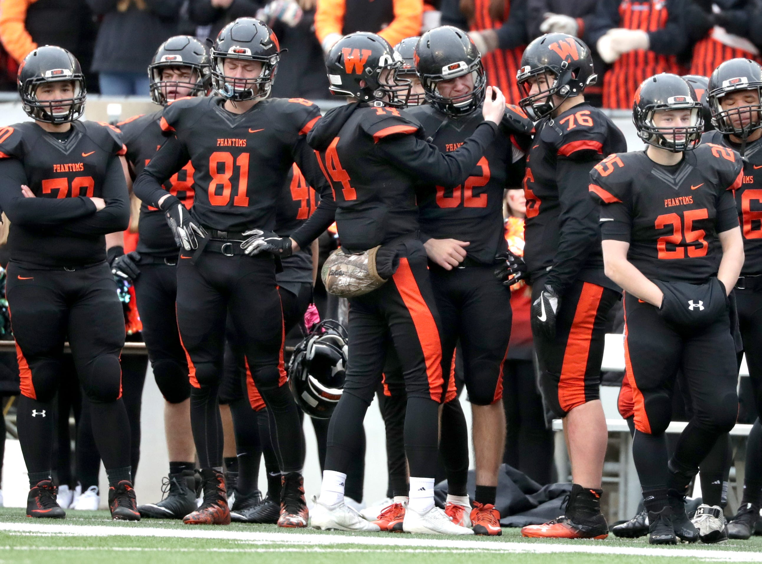 West De Pere High School against Catholic Memorial High School during the WIAA Division  3 state championship football game on Friday, November 16, 2018, at Camp Randall in Madison, Wis. Wm. Glasheen/USA TODAY NETWORK-Wisconsin.
