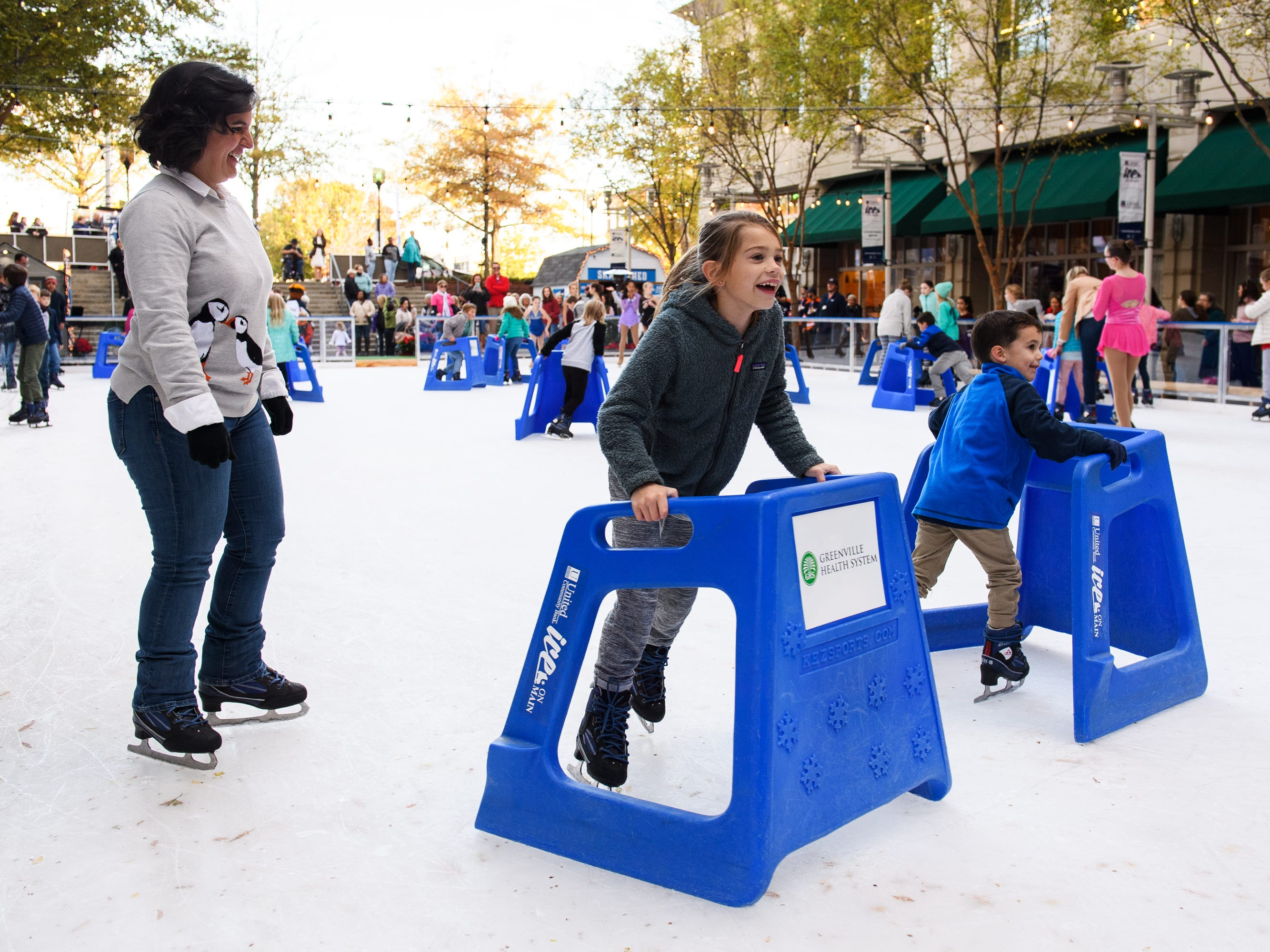 Ice on Main officially kicks off the holiday season in downtown Greenville on their opening day on Friday, Nov. 16, 2018.