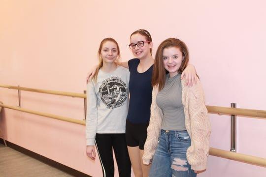 From left to right: Katelyn Christensen, Arabella Mousseau, Emily Seidlitz