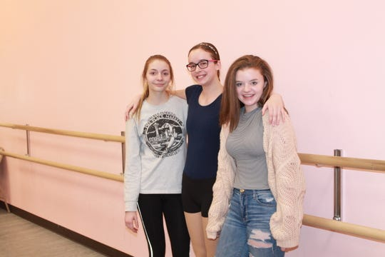 From left to right: Katelyn Christensen, Arabella Mousseau, Emily Seidlitz