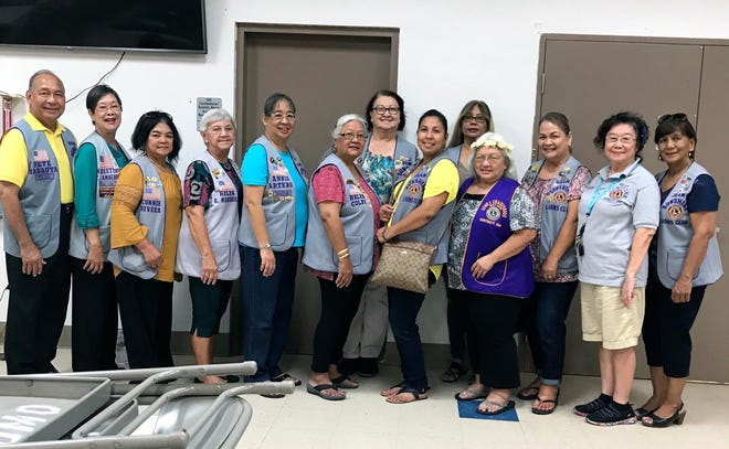 In support of LCI District 204's hunger relief program, the Guam Sunshine Lions Club provided meals for the homeless in Dededo on October 23 at the Senior Citizens Center. From left: Lions Pete Babauta (president), Marietta Camacho, Connie Rivera, Helen Mendiola, Annie Artero, Helen Colby, Doris Limtiaco, Tish Tano, Sophie Losongco, Ewy Taitano (District 204 GST), Julie Cruz, Clare Cruz, and Mary Taitano.