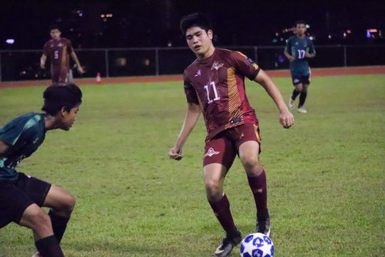 Josh Calvo will be one of many Father Duenas Friars on the pitch against the Harvest Christian Academy Eagles in IIAAG boys soccer on Monday night in the PDN's Game of the Week.