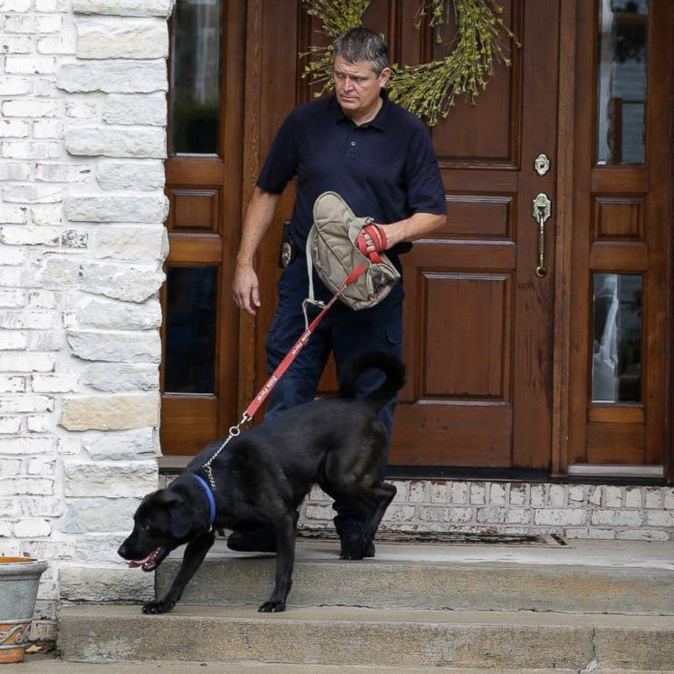 This former Indiana K-9 sniffed out Jared Fogle's thumb drive. Now he's being honored.