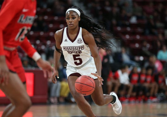 Mississippi State senior guard Anriel Howard averages 13.6 points per game for the Bulldogs, which is second on the team behind senior center Teaira McCowan.