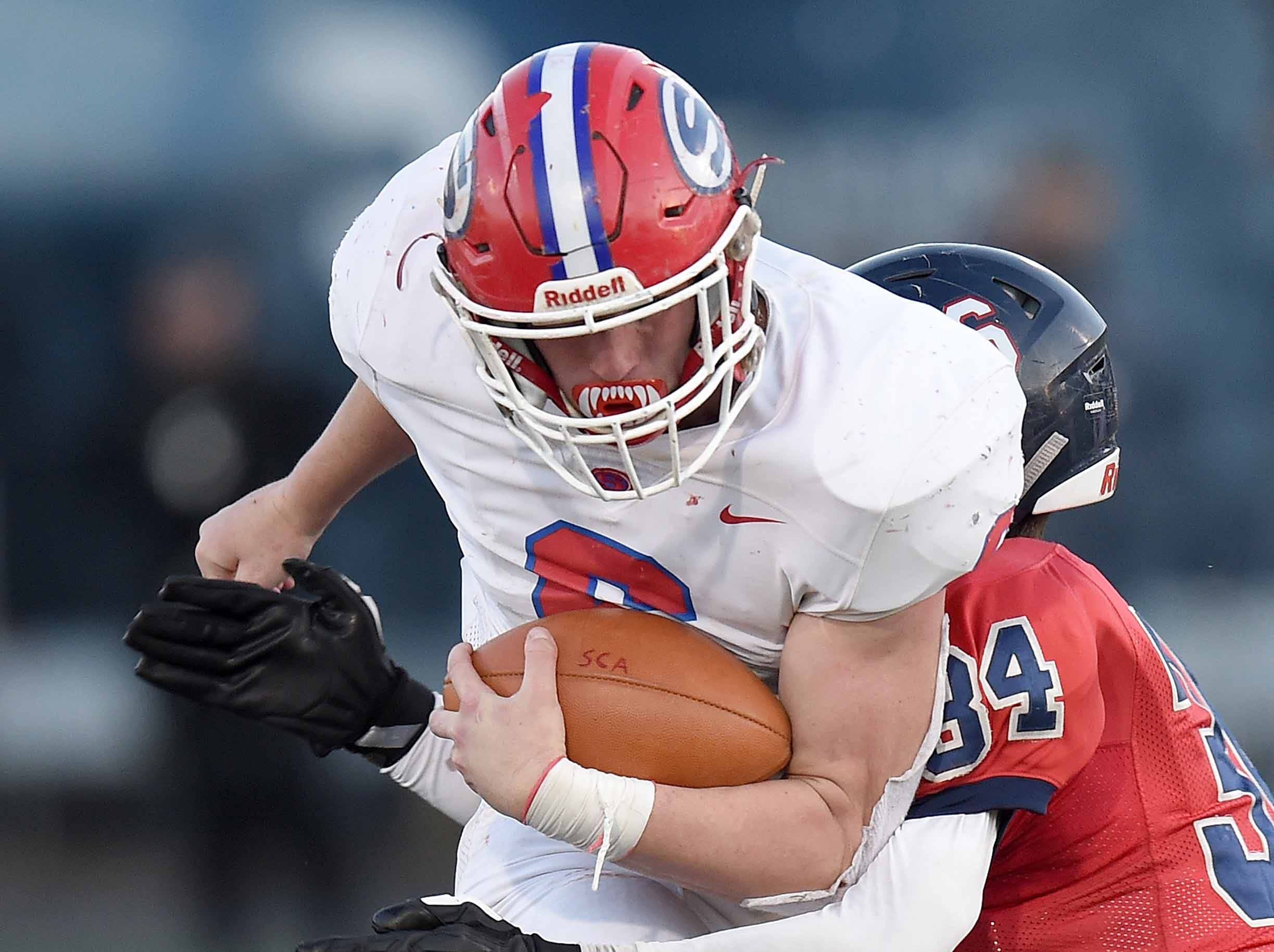 Simpson Academy's Caleb Garner (6) runs against Lamar School on Thursday, November 15, 2018, in the MAIS Class AAAA-D2 Football Championship at Jackson Academy in Jackson, Miss.