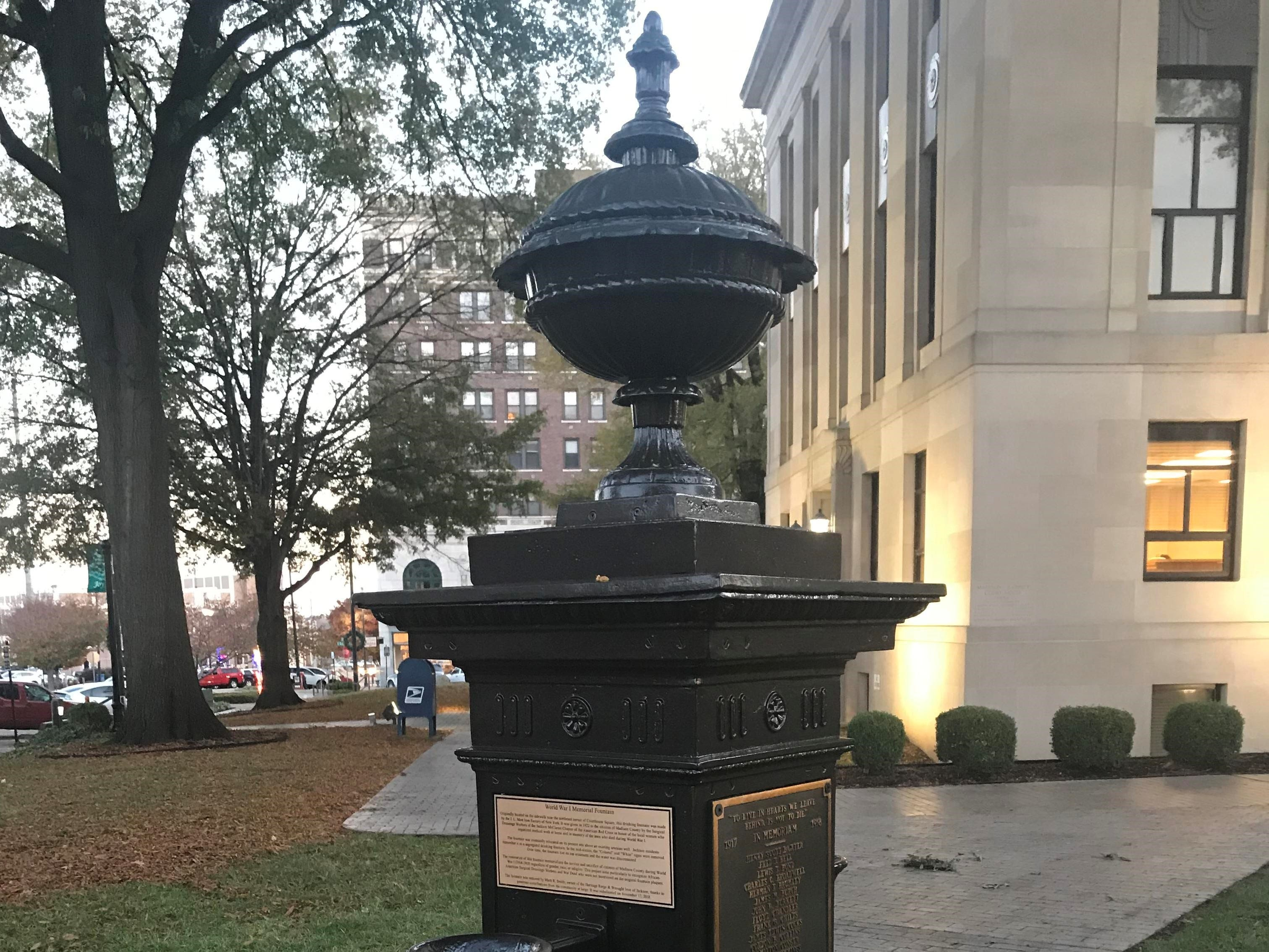 WWI fountain restoration aims to unify community, right past wrongs