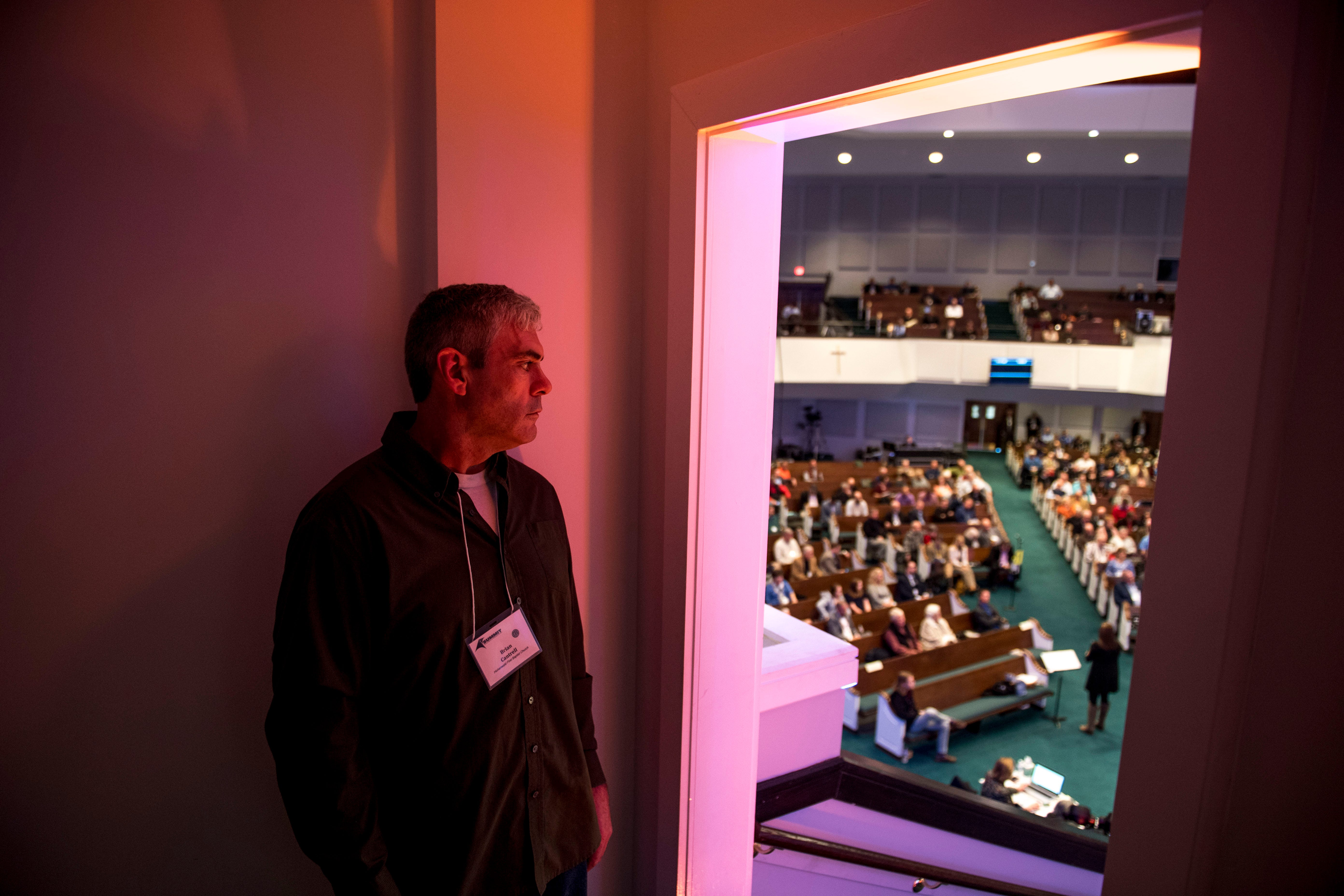 """Brian Cantrell, formerly known as """"Scotty,"""" poses for a portrait during the 2018 Tennessee Baptist Conference Summit at West Jackson Baptist Church in Jackson, Tenn., on Tuesday, Nov. 13, 2018. Brian Cantrell credits his relationship with Jesus Christ that started in December of 2017 for turning his life away from 30 years of drug addiction to being sober and working for a church in Hohenwald."""