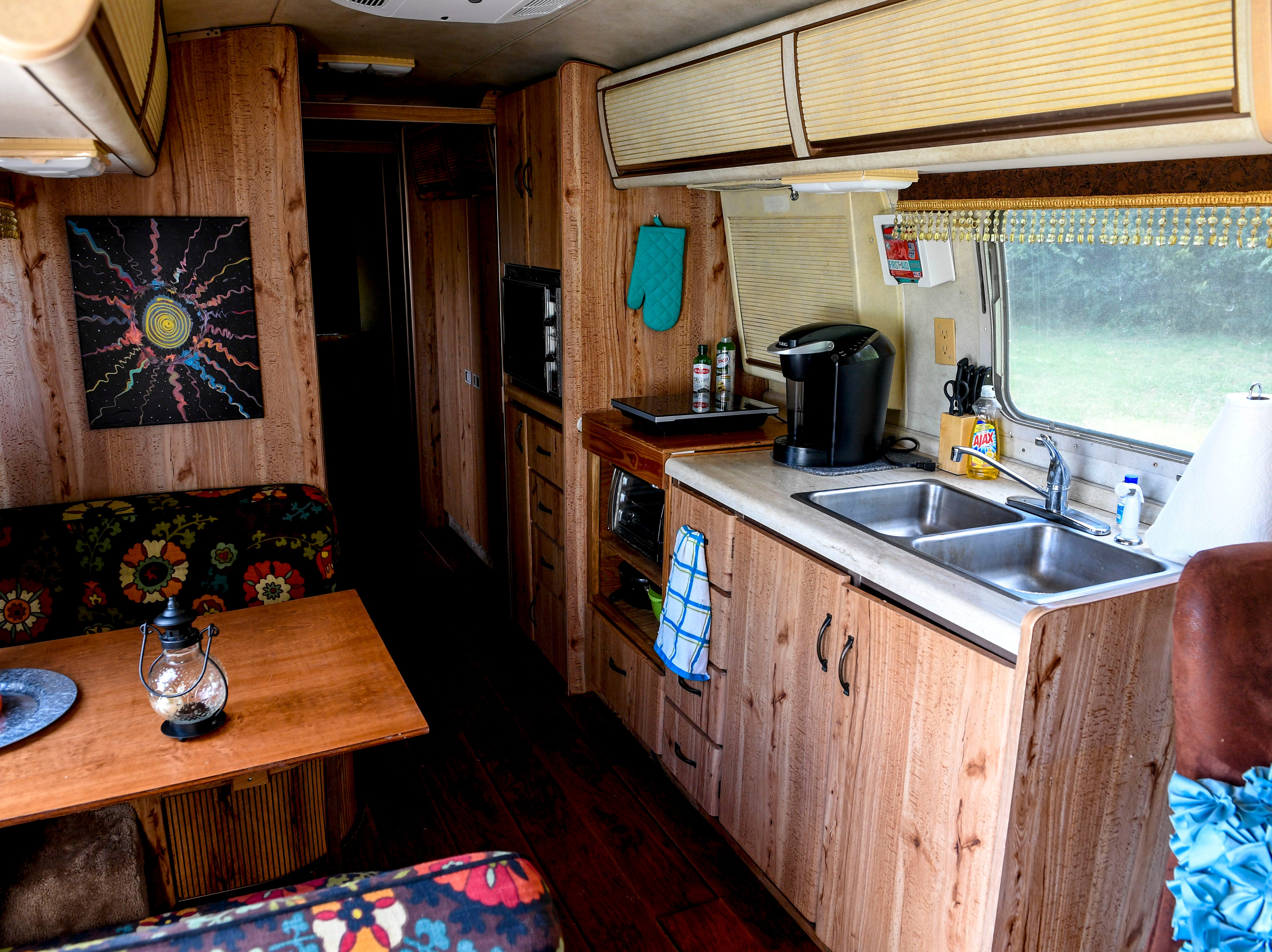 The inside of one of the Pitoni's Airstream trailers can be seen at Stillwaters Farm in Henderson, Tenn., on Monday, Nov. 5, 2018.