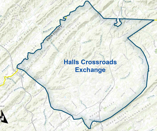 TDS Telecom map of proposed broadband services in the Knoxville area