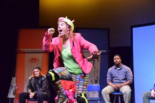 "Emily (Katherine Wilcox-Chelimsky) steals the show with her child-like antics during ""Soft Animals,"" a play at Pellissippi State Community College Sunday, Nov. 11."