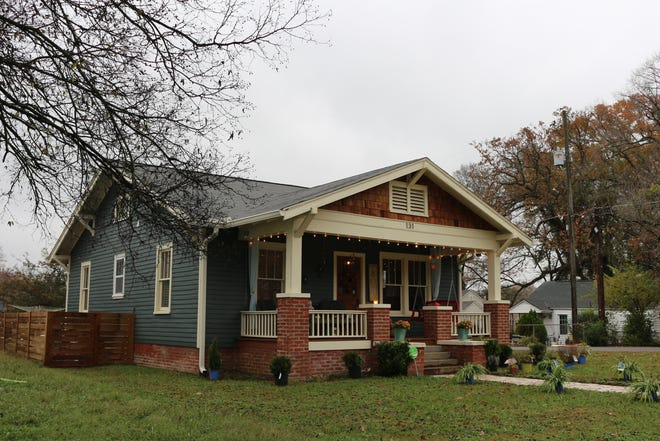 The Oak Grove house, a restored 1920s Craftsman, now belongs to the Maroni family's friend and neighbor, Kathy Oglebay.