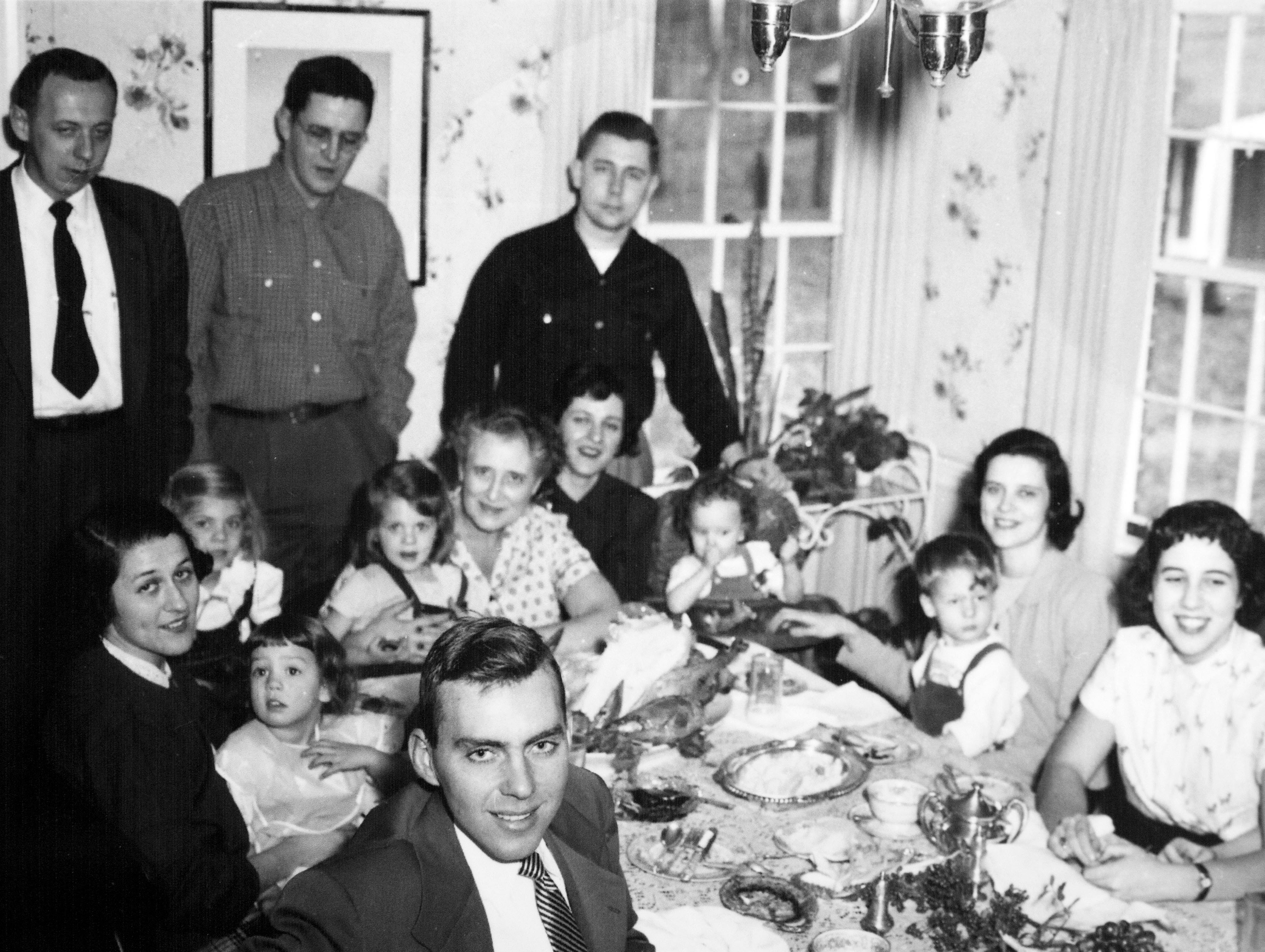 Thanksgiving in the Willard home in 1954.