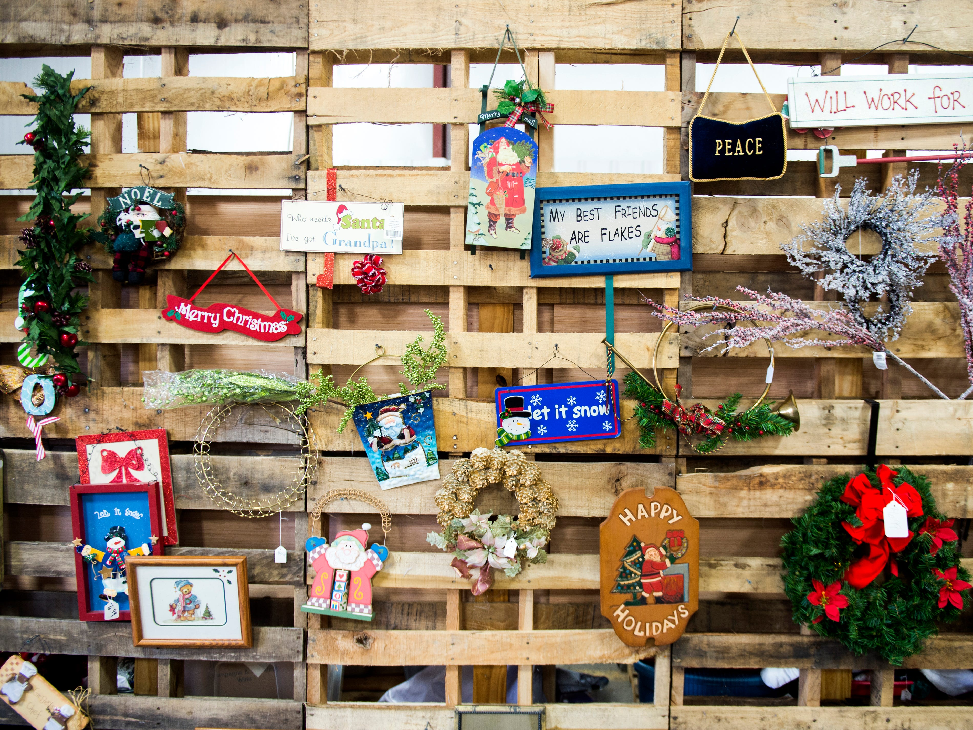 Christmas decorations for sale at the KARM Christmas Store located at 9629 Parkside Drive in Knoxville on Tuesday, November 13, 2018.