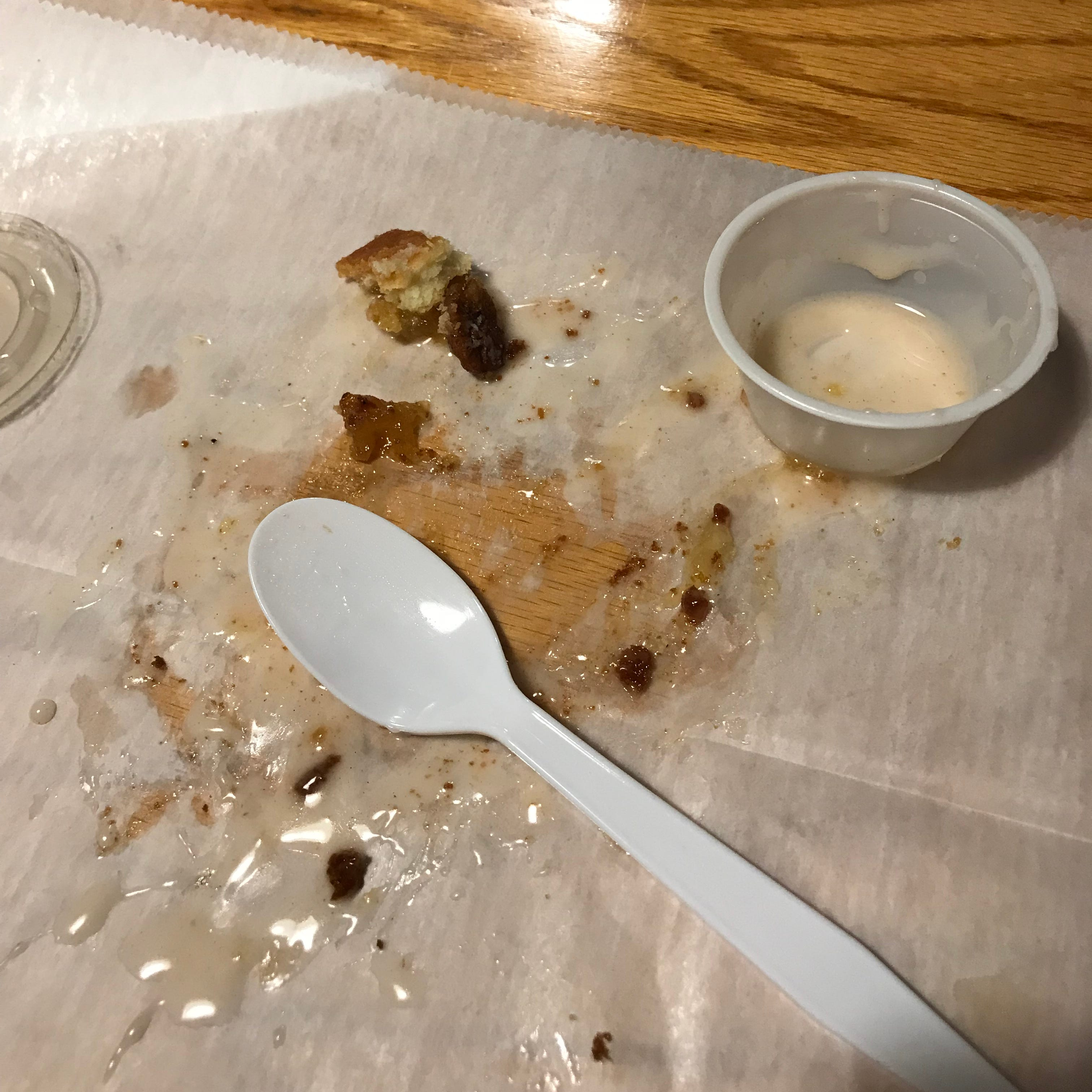 A slice of deep fried pecan pie didn't last long at South Street Smokehouse.